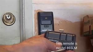 Liftmaster Garage Door Opener 893lm Manual