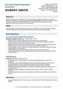 Accounts Payable Resume Accounts Payable Specialist Resume Samples Qwikresume