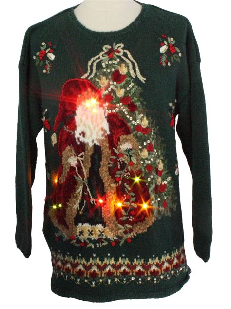 light up ugly sweater light up ugly christmas sweater tiara international