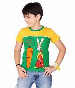 Dongli Smart Boys Cotton T-shirt - Green - Buy Dongli ...