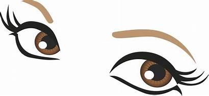 Eyes Eye Clipart Eyebrow Googly Brown Drawing