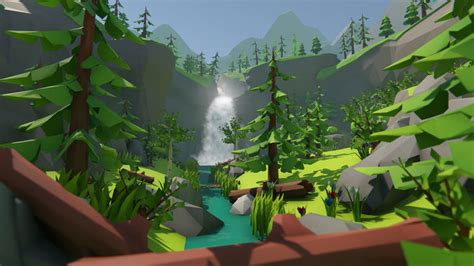 lowpoly forest environment pack  asset cgtrader