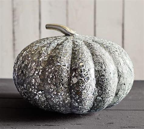 glass mosaic pumpkin  silver