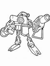 Coloring Pages Real Robot Robots Gamma Steel Evil Sonic Template Guns sketch template