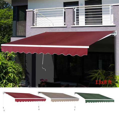 outdoor xx patio awning sun shade canopy shelter