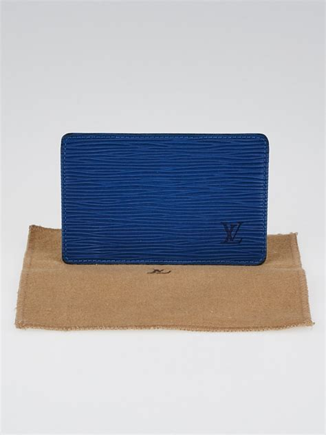 New and preowned, with safe shipping and easy returns. Louis Vuitton Toledo Blue Epi Business Card Holder - Yoogi's Closet
