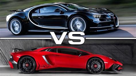 Bugatti Chiron Vs Lamborghini Veneno Race