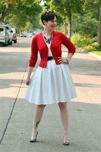 Dressed for Red White and Black - Already Pretty   Where style meets body image
