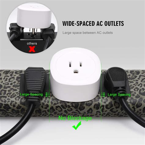power surge protector fire strip fastening 10ft retardant 2usb tie cable