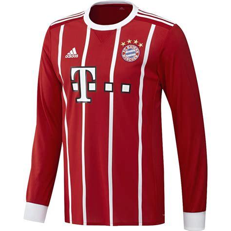 Er ist neben borussia dortmund. Adidas FC Bayern München Trikot 2017/2018 Langarm Kinder ...