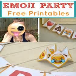 Emoji Printable Birthday Party