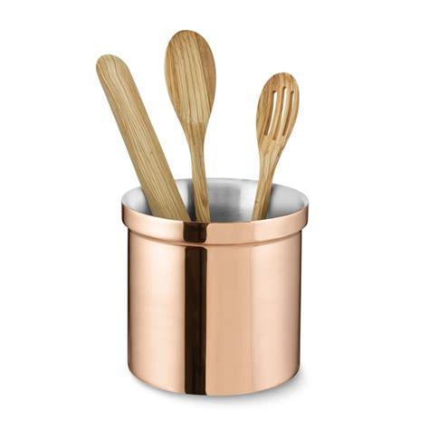 partitioned copper utensil holder williams sonoma
