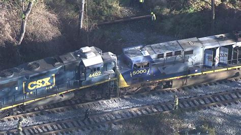 Freight Trains Collide In Delaware County; 2 Injured