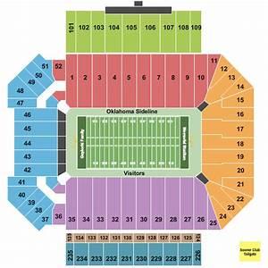Oklahoma Memorial Stadium Seating Chart Maps Norman