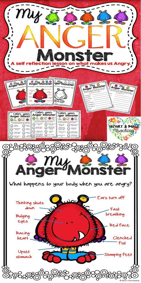 anger monster  anger management activity anger