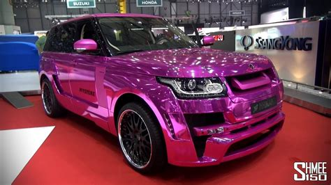 exclusive hamann mystere chrome pink  range rover