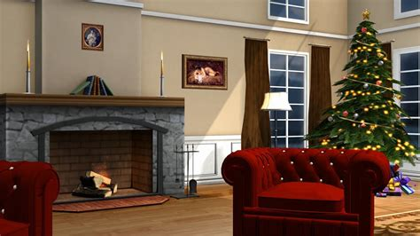 christmas room living room royalty  green screen