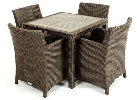 nico outdoor dining table with durable synthetic teak top