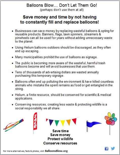 fact sheets infopics balloons blow