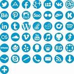 Icons Social Round Icon Vector Hand Tattoo