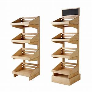 4, Tier, Wooden, Shelved, Display, Stand, Sp086