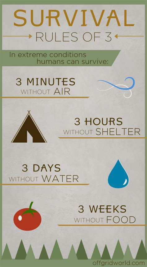 Survival Rules Of 3 Infographic  Off Grid World
