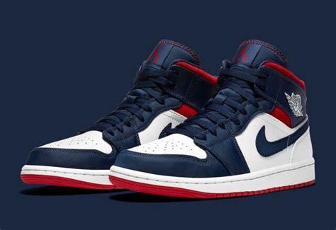 Nike Air Jordan 1 Mid Se Olympic Usa 2020 Redwhite