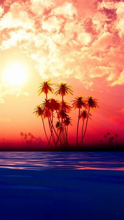 Island Iphone Sunset Max Pro Fr Xr