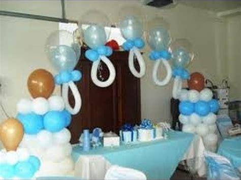 Decoracion De Baby Shower En Casa - como hacer arreglos con globos para baby shower
