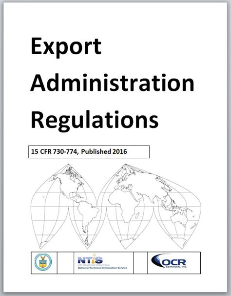 ntis gov export administration regulations ear
