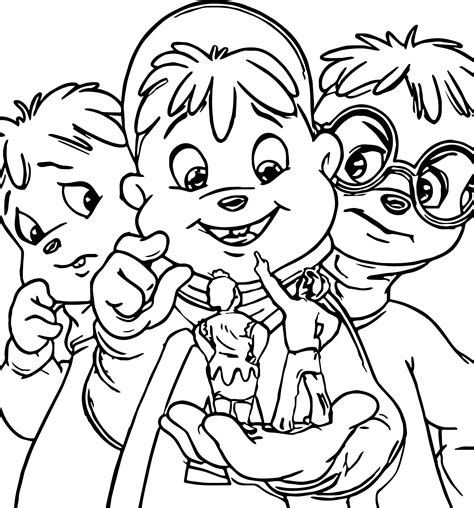 Alvin And The Chipmunk Coloring Pages Alvin And Chipmunks Coloring Pages Wecoloringpage
