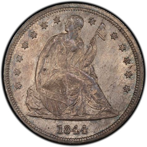 liberty dollar coin 1844 seated liberty silver dollar values and prices past sales coinvalues com