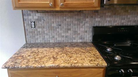no tile backsplash kitchen backsplash basket weave stone no grout