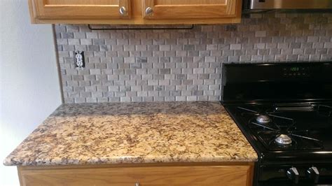 KITCHEN   Backsplash   Basket Weave Stone / No Grout