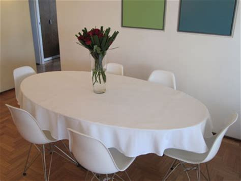 white oval tablecloth custom table linens 1055