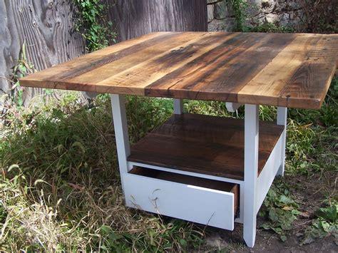 buy  handmade reclaimed wood kitchen table  storage