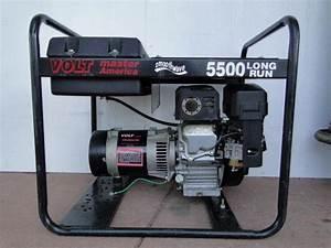 Voltmaster 5500 Watt Gas Generator 9hp Subaru Engine 110v