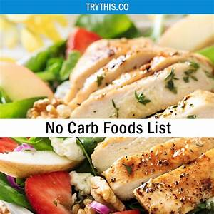 no carb foods list health tips try this