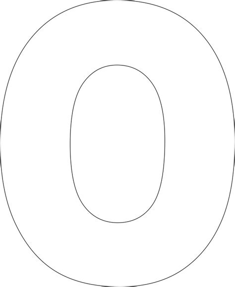 letter o template best photos of large printable numbers 0 large number 0 42053