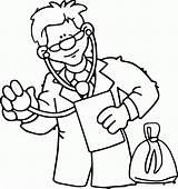 Stethoscope Arzt Wearing Ausmalbilder Doktor Occupations Malvorlage Ausmalbild sketch template