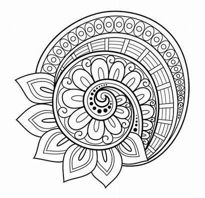 Mandalas Flores Dibujos Mandala Colorear Flor Dibujo