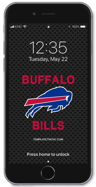 buffalo bills lock screen schedule  iphone