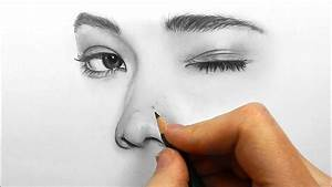 How To Shade And Draw Realistic Eyes  Nose And Lips With