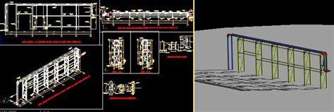 pipe rack details  autocad cad   mb