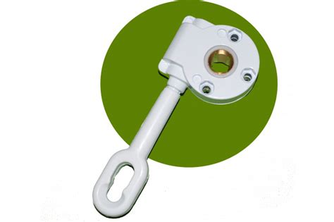 aluminum retractable awning gear box manual handle white