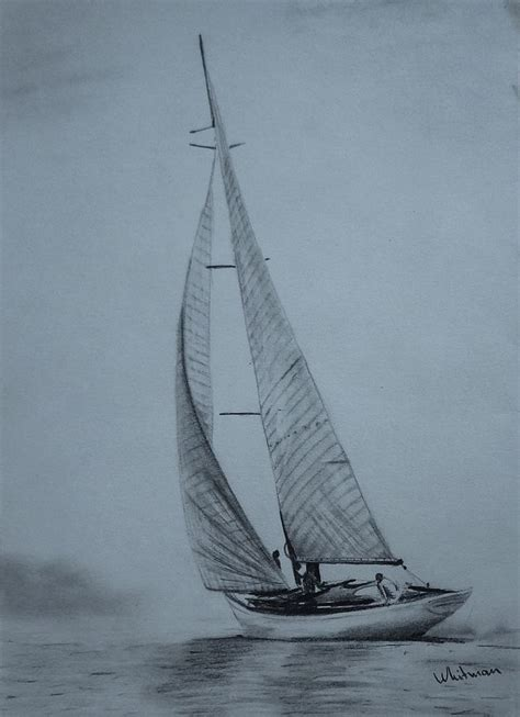 Boat In Drawing by Best 25 Sailboat Drawing Ideas On Boat