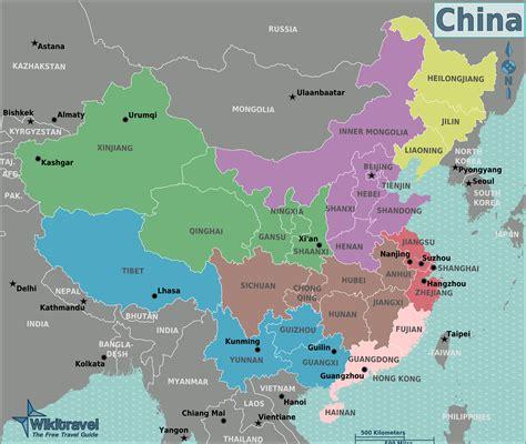 China Karte Deutsch