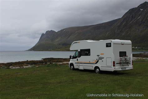 norwegen wohnmobil mieten wohnmobilvermietung schleswig holstein wohnmobil und