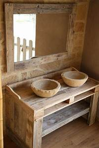Pallet Vanity and Mirror for Bathroom 101 Pallets