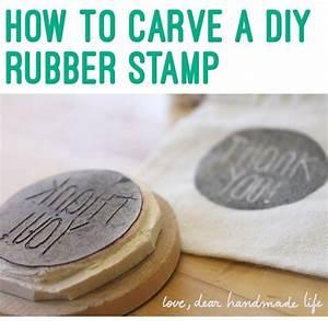 Wax Selber Herstellen : how to make a diy carved rubber stamp stempel selber ~ A.2002-acura-tl-radio.info Haus und Dekorationen